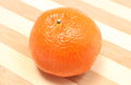 Fresh and orange mandarin on wooden background Royalty Free Stock Photo