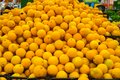 Fresh orange for sale in market. Agriculture and fruits product Royalty Free Stock Photo