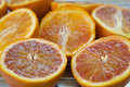 Fresh oranges cut half Royalty Free Stock Photo