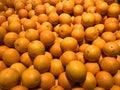 Fresh Oranges on a market Royalty Free Stock Photo