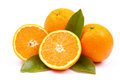 Fresh oranges white ground Royalty Free Stock Photos
