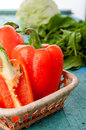 Fresh organic bell peppers Royalty Free Stock Photo