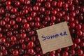 Fresh organic cherries background Royalty Free Stock Photo