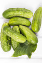 Fresh organic cucumbers Royalty Free Stock Photo