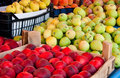 Fresh Organic Fruits At A Street Market Stock Image