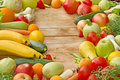 Fresh organic fruits and vegetables Stock Photo