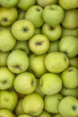 Fresh organic green apples background Royalty Free Stock Images