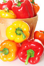 Fresh organic peppers Royalty Free Stock Photo