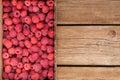 Fresh organic ripe raspberry in box Royalty Free Stock Photo