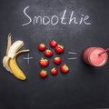 Fresh organic Smoothie ingredients, Superfoods and healthy lifestyle or detox diet food concept strawberry and banana Royalty Free Stock Photo