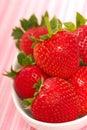 Fresh organic strawberries Royalty Free Stock Photo