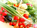 Fresh organic vegetables in crate crates Royalty Free Stock Photography