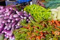 Fresh and organic vegetables at farmers market Royalty Free Stock Photo