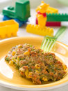 Fresh organic vegetables pancake baby selective focus shot story homemade organic healthy baby foods Royalty Free Stock Photography