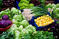 Fresh Organic Vegetables At A Street Market Royalty Free Stock Photo
