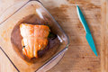Fresh oven-baked salmon fresh from the oven Royalty Free Stock Photo