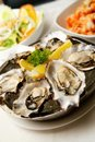 Fresh Oyster as Appetizer Royalty Free Stock Photo