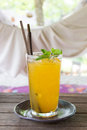 Fresh Passion Fruit Juice Royalty Free Stock Photo