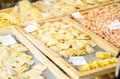 Fresh pasta shop handmade in a Royalty Free Stock Photography