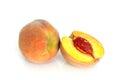 Fresh peach fruits Royalty Free Stock Photo