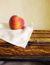 Fresh peach on a table ripe Royalty Free Stock Photo