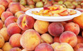 Fresh Peaches at Local Market Royalty Free Stock Image