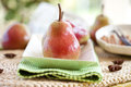 Fresh pears in a bowl Royalty Free Stock Image