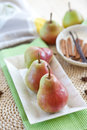 Fresh pears in a bowl Royalty Free Stock Images