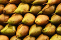 Fresh pears on market Royalty Free Stock Photo