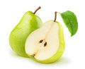 Fresh pears over white background Royalty Free Stock Image