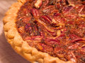 Fresh Pecan Pie Stock Image