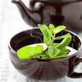 Fresh peppermint tea Royalty Free Stock Photo