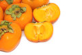 Fresh persimmon fruit food background Royalty Free Stock Photos