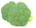 Fresh pieces of broccoli two on a white background Royalty Free Stock Images