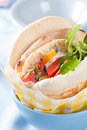 Fresh pita with tuna Stock Image