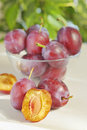 Fresh plums Royalty Free Stock Image