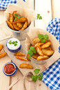 Fresh potato wedges Royalty Free Stock Photo