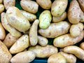 Fresh potatoes on a tray in the supermarket thailand Royalty Free Stock Images