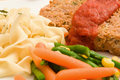 Fresh Prepared Meatloaf and Sauce Royalty Free Stock Images