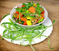 Fresh prepared vegetable salad Royalty Free Stock Photo