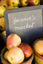 Fresh produce on sale at the local farmers market Royalty Free Stock Photography