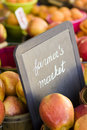 Fresh produce on sale at the local farmers market Royalty Free Stock Images