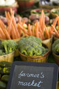 Fresh produce on sale at the local farmers market Royalty Free Stock Photo