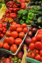 Fresh Produce For Sale at Market Stock Photography
