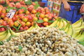 Fresh produce table Royalty Free Stock Photo