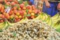 Fresh produce table Royalty Free Stock Photo
