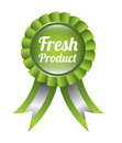 Fresh product seal over white background vector illustration Royalty Free Stock Photos