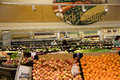 Fresh pruduce in grocery store fruits and vegetables a big supermarket Stock Photo