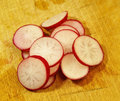 Fresh radish cut up Stock Images