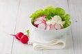 Fresh radish salad in a bowl Royalty Free Stock Photo